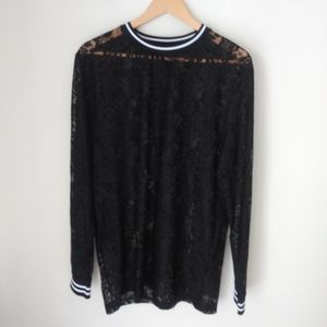 ASOS long sleeve lace top Size L